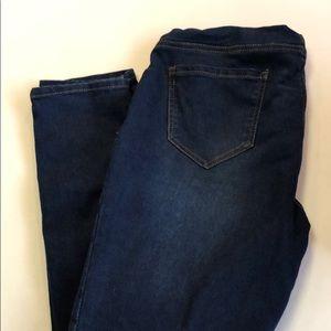 Indigo blue maternity jeans size XL skinny